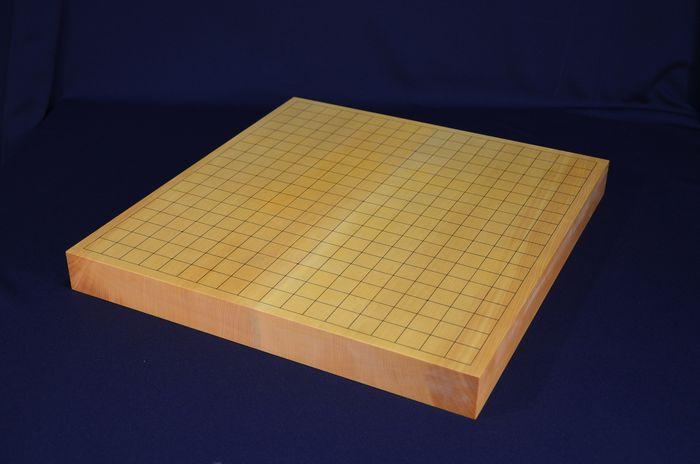 中国雲南省産本榧盤一寸四分五厘卓上盤銘盤全体